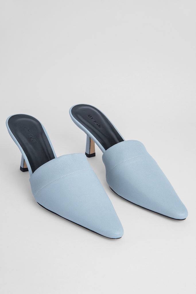 Cynthia Light Blue Stretch Leather