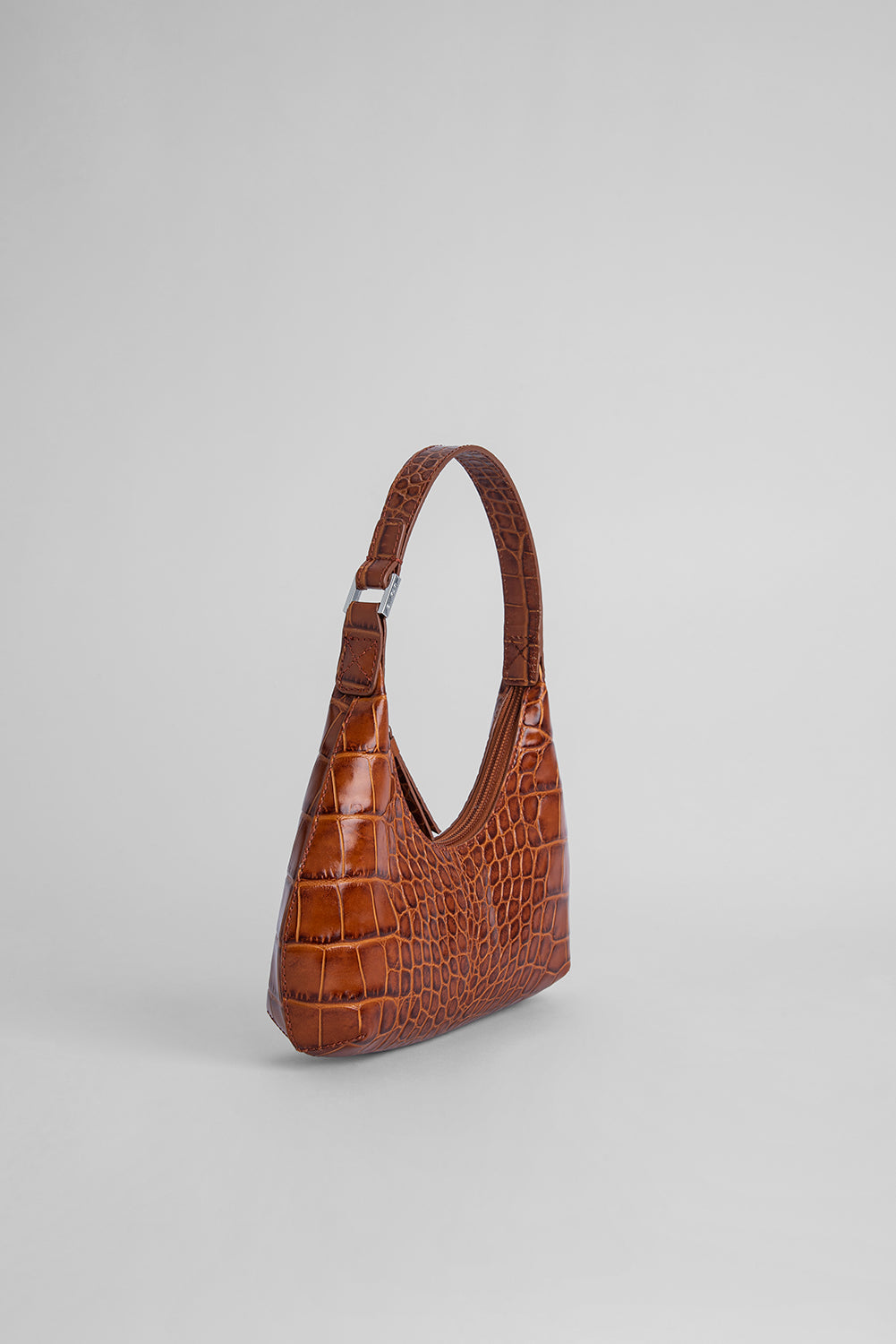 Baby Amber Tan Croco Embossed Leather