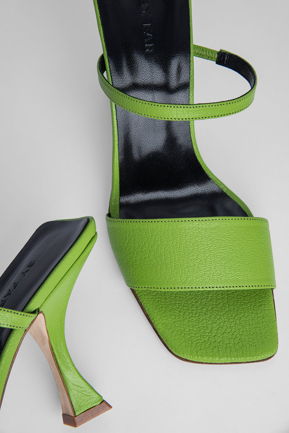 Nayla Pistachio Grained Leather