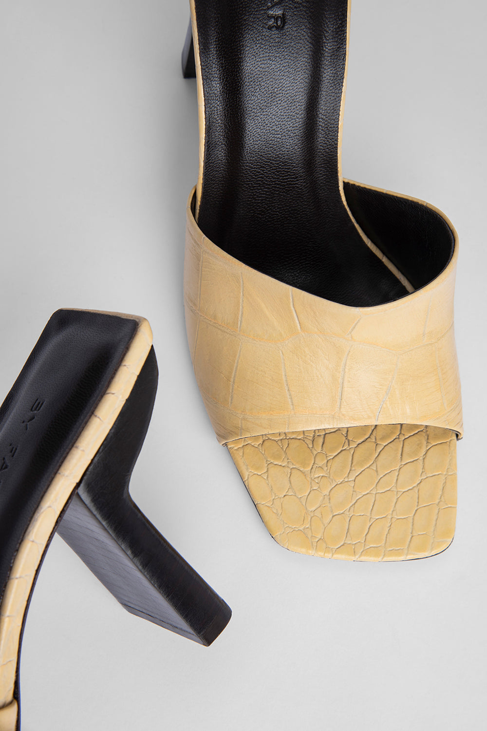 Liliana Wheat Croco Embossed Leather