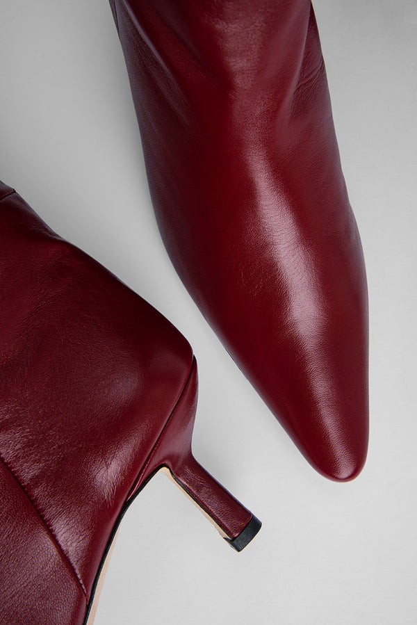 Gwen Bordeaux Creased Leather