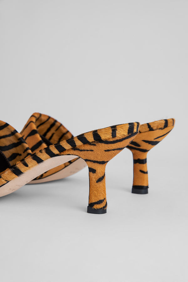 Cynthia Tiger-Print Pony Hair Leather