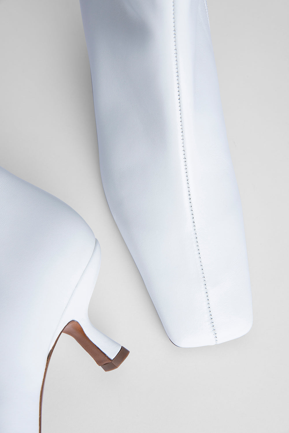 Lange White Nappa Leather