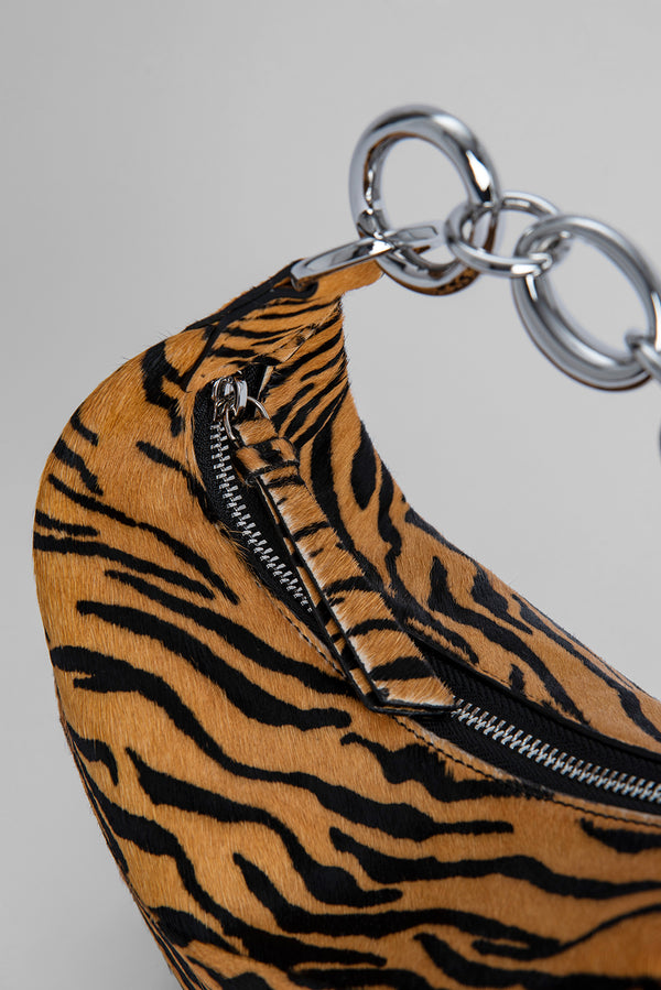 Bougie Tiger-Print Pony Hair Leather