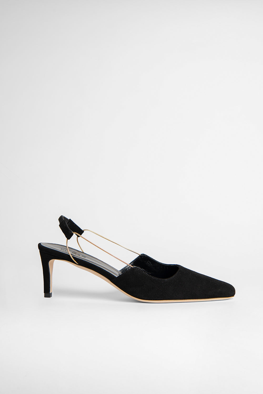 Gabriella Black Suede Leather