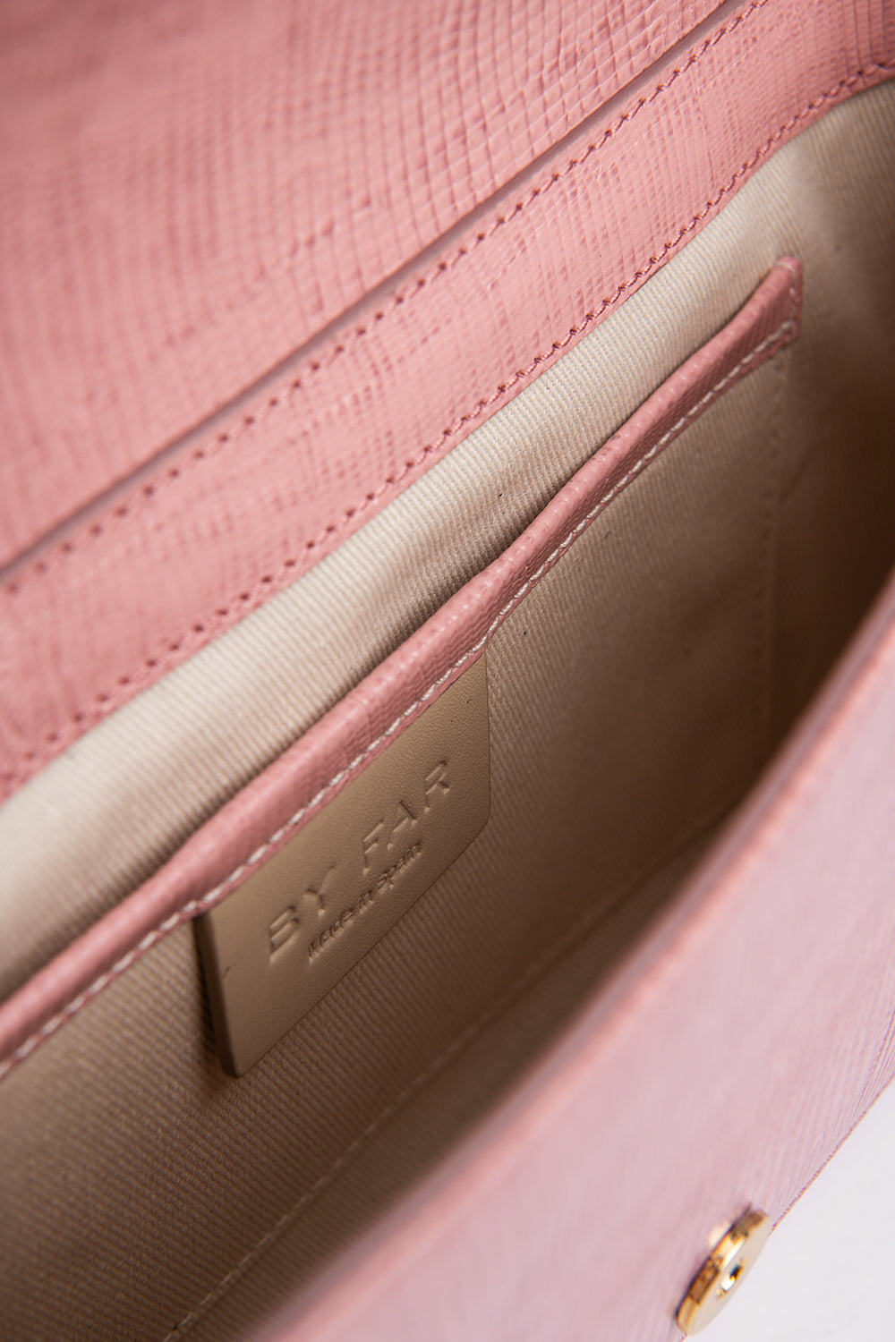 Miranda Pink Lizard Embossed Leather
