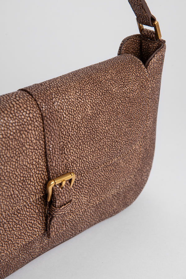Miranda Taupe Stingray Print Leather