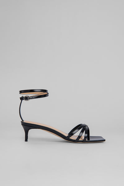Kaia Black Semi Patent Leather
