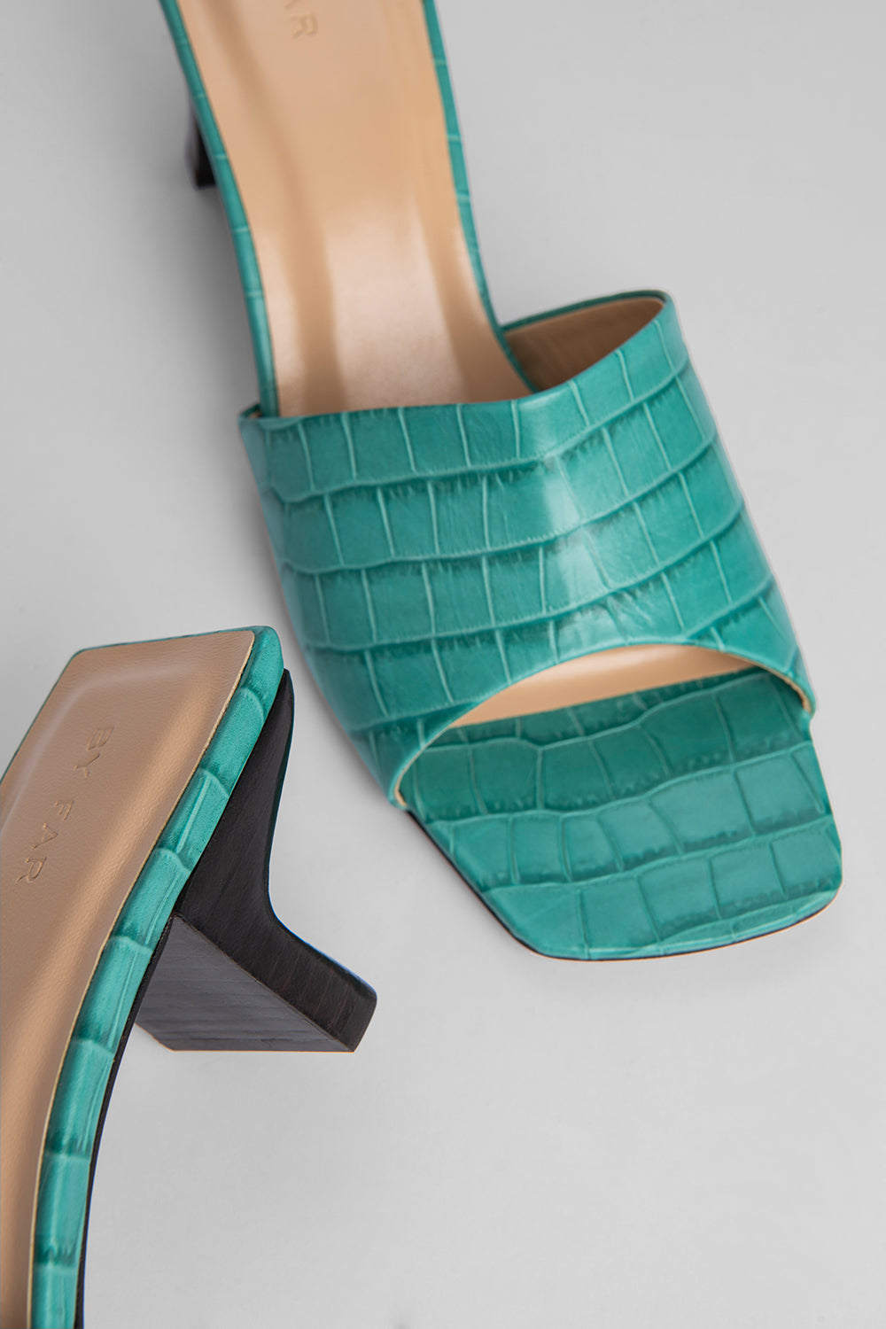 Lily Turquoise Croco Embossed Leather