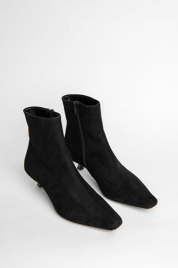 Laura Black Suede Leather