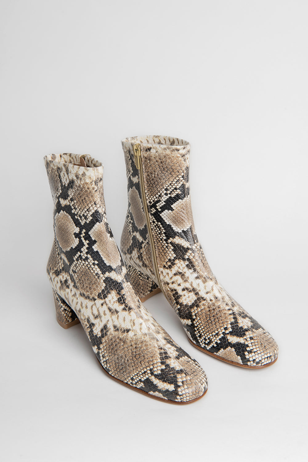 Sofia Snake Print Leather