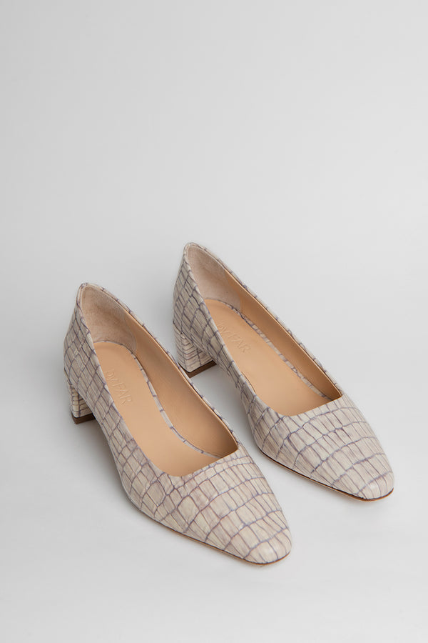 Andrea Pearl Croco Embossed Leather