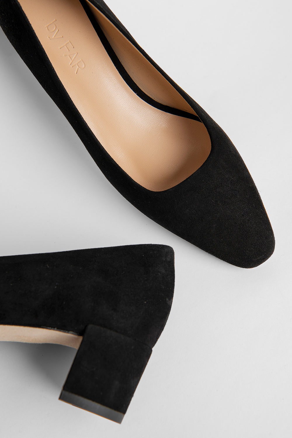 Andrea Black Suede Leather