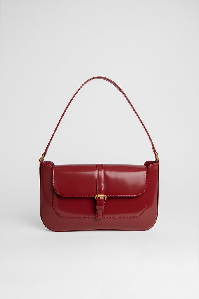 Miranda Red Semi Patent Leather