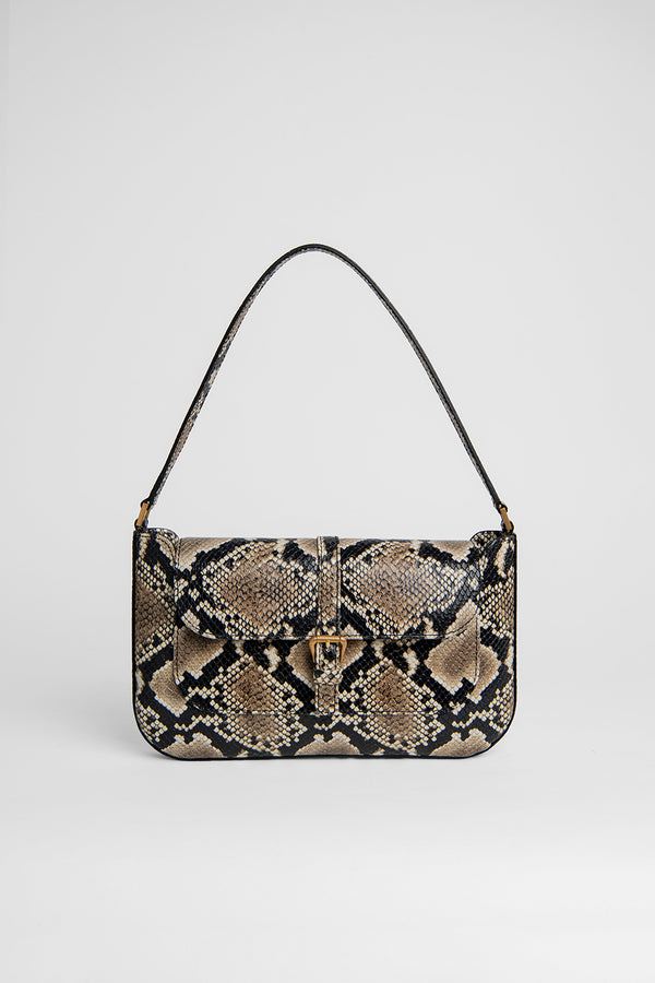 Miranda Snake Print Leather