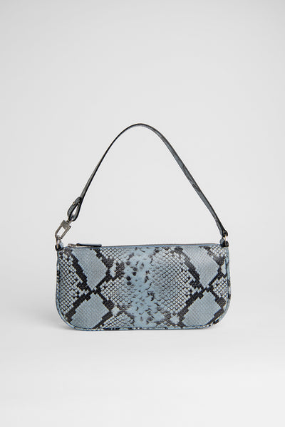 Rachel Blue Snake Print Leather
