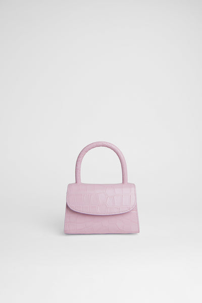 Mini Pink Croco Embossed Leather