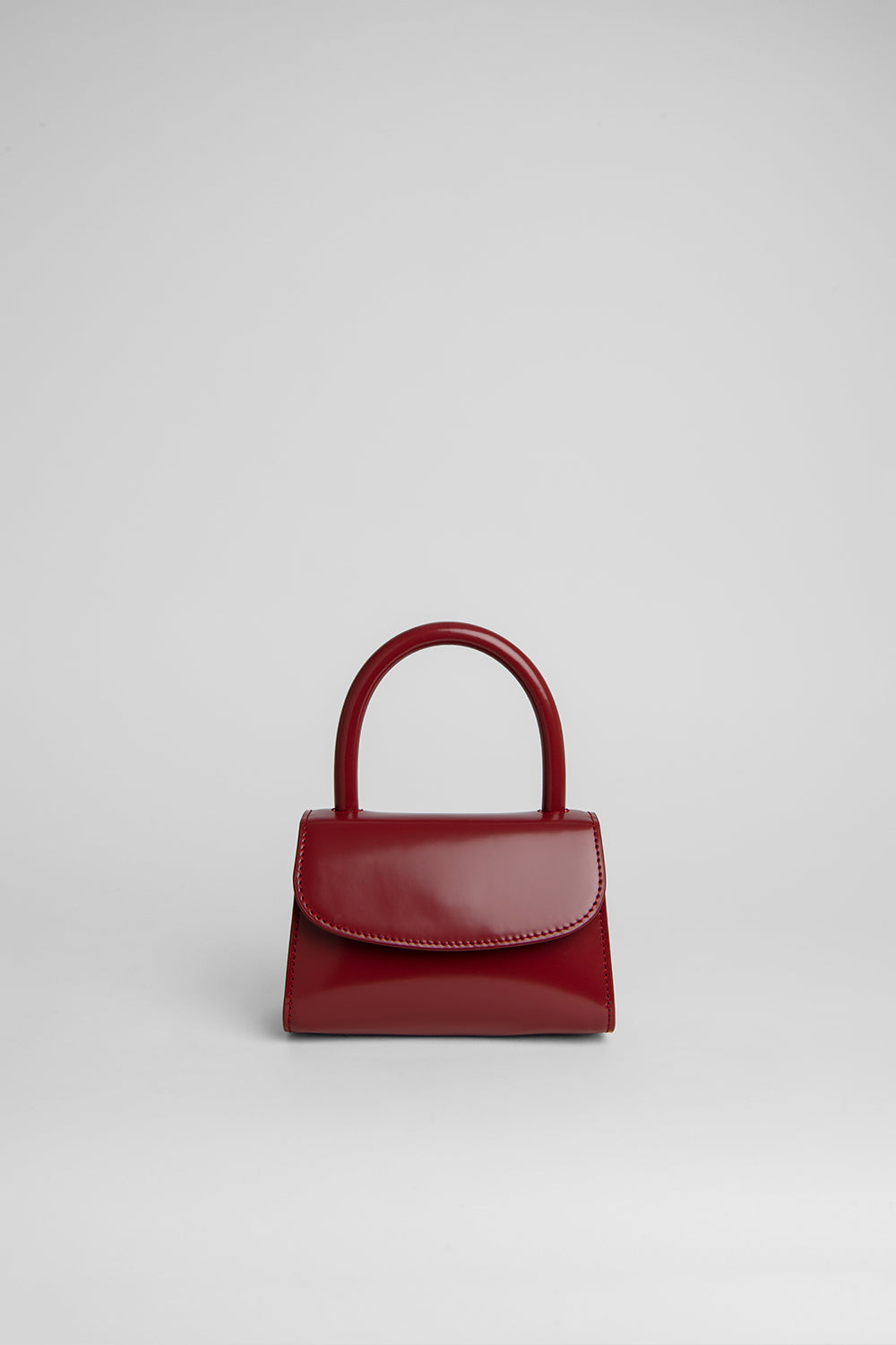 Mini Red Semi Patent Leather