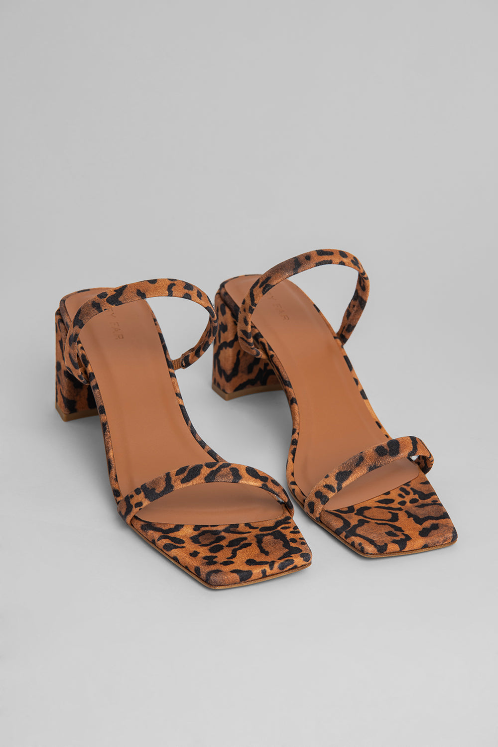 Tanya Leopard Print Suede Leather