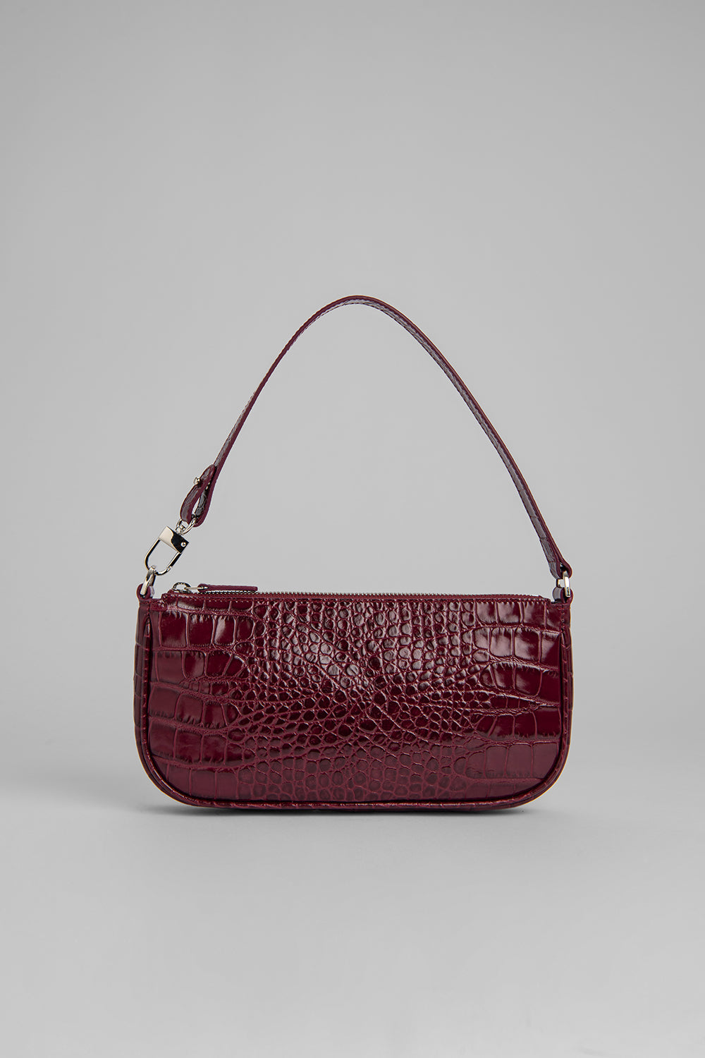 Rachel Bordeaux Croco Embossed Leather