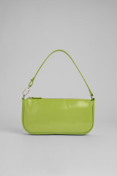Rachel Lime Green Semi Patent Leather