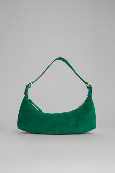 Mara Green Suede Leather