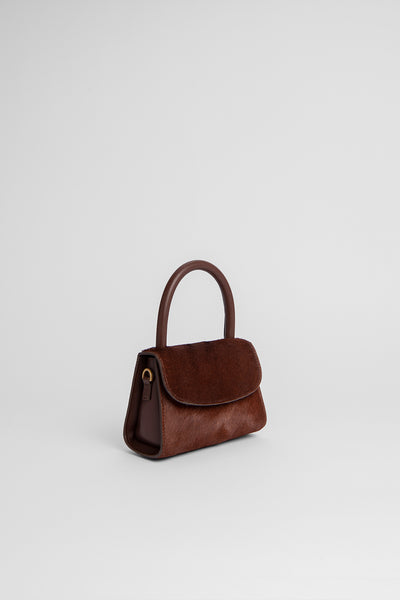 Mini Brown Pony Hair Leather