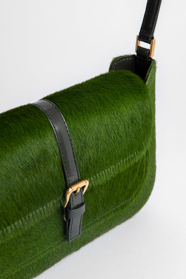 Miranda Green Pony Hair Leather