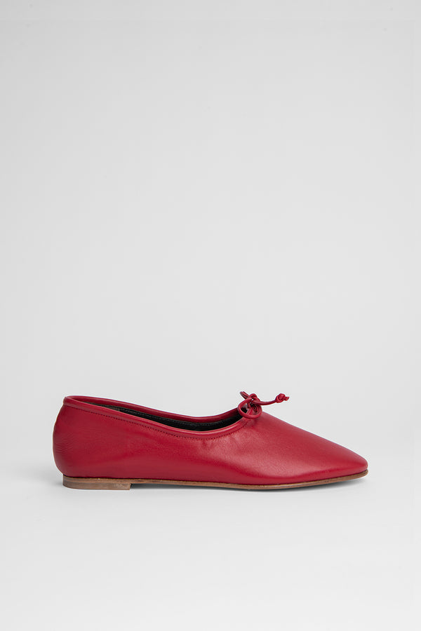 Agnes Red Leather