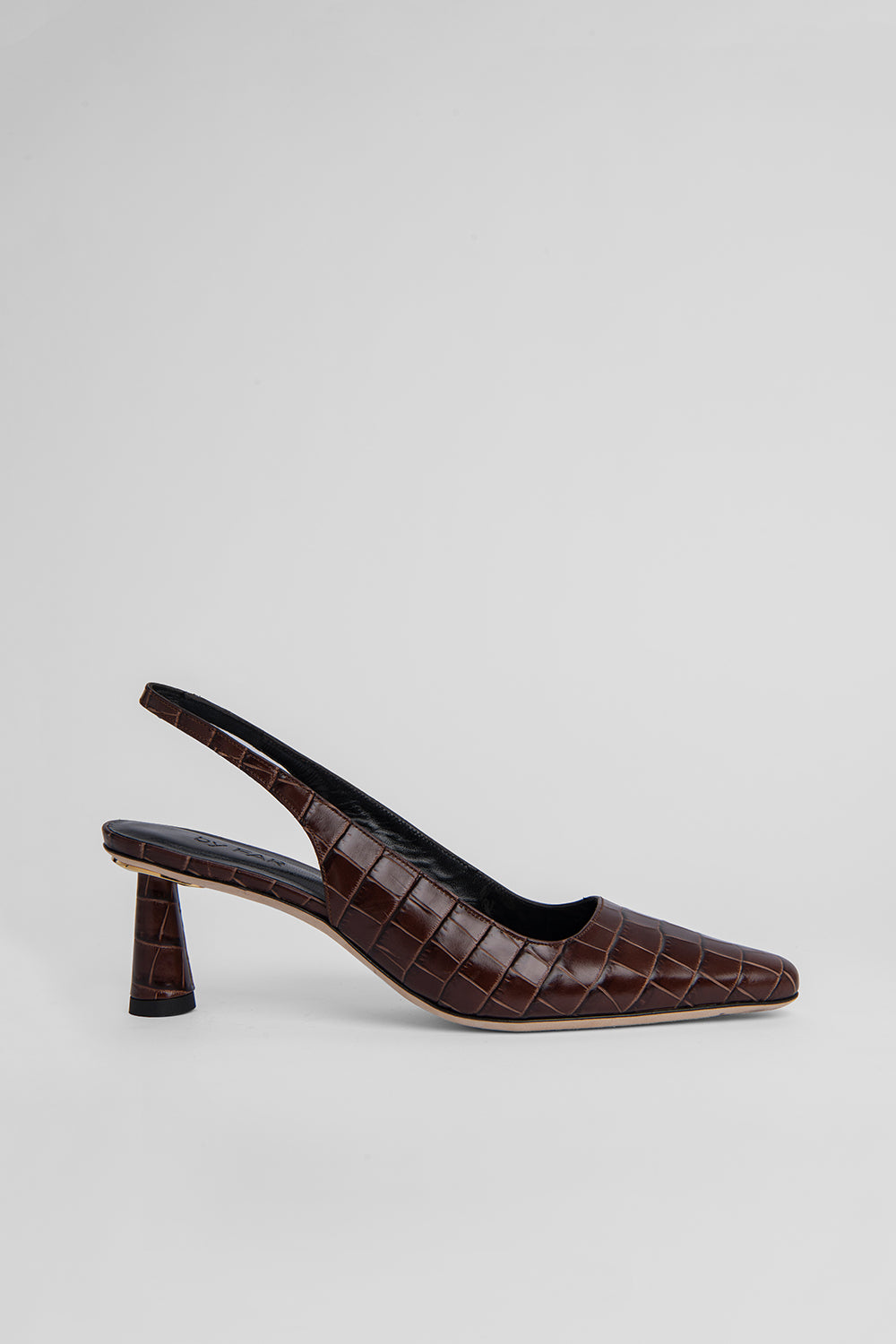 Diana Nutella Croco Embossed Leather