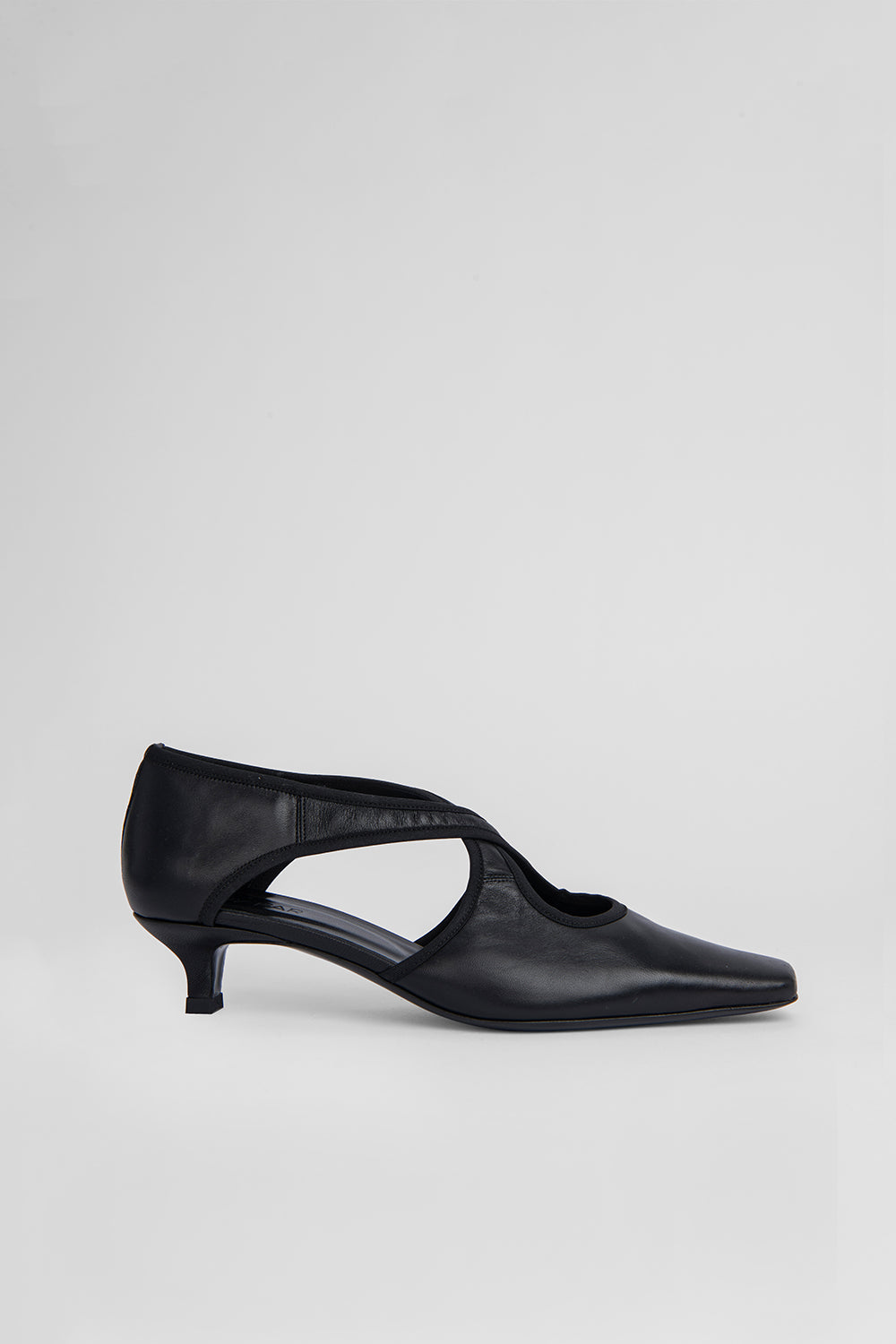 Adele Black Stretch Leather