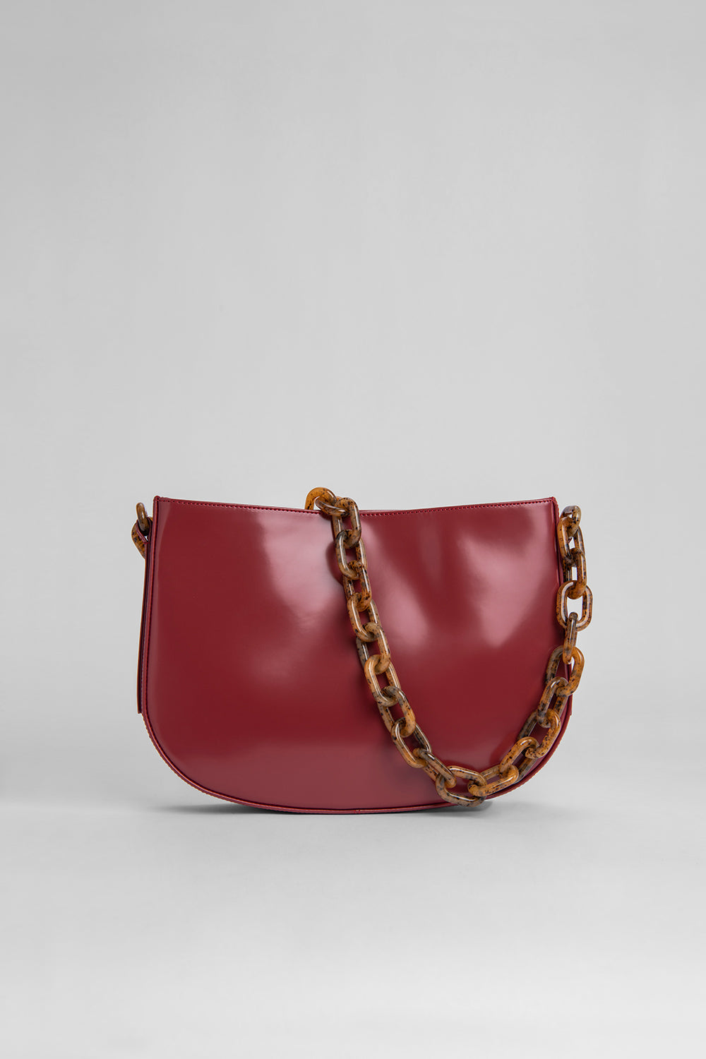 Pelle Red Semi Patent Leather