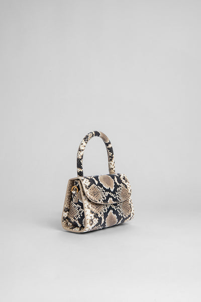 Mini Snake Print Leather