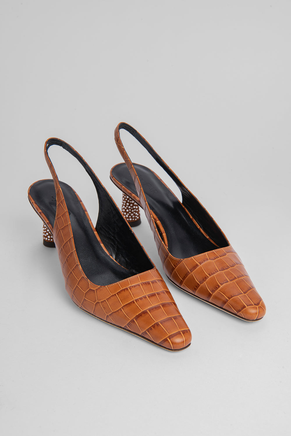 Diana Tan Croco Embossed Leather