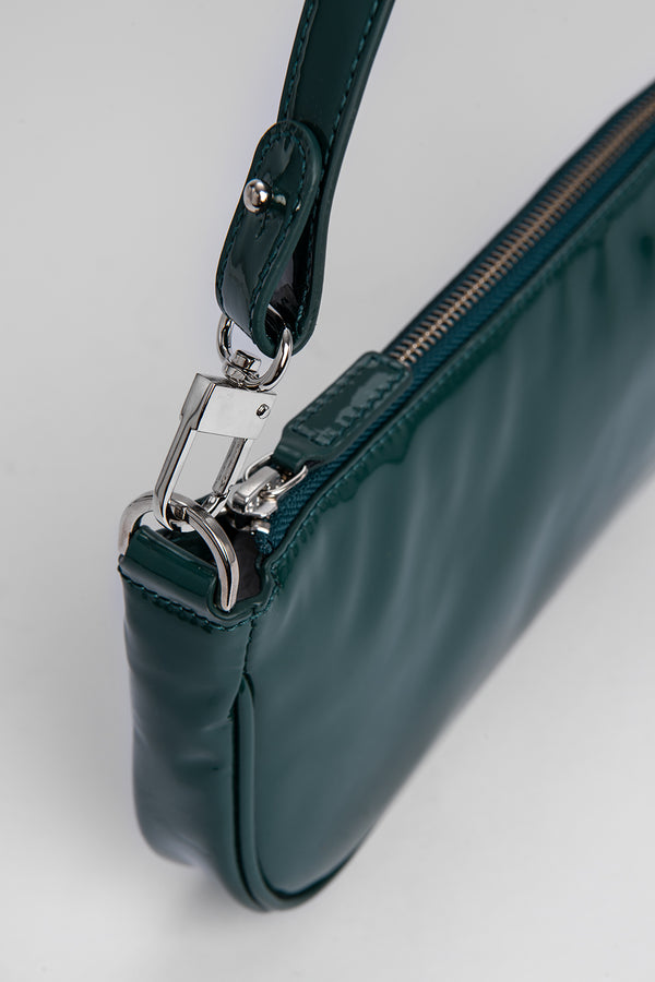 Rachel Dark Green Patent Leather