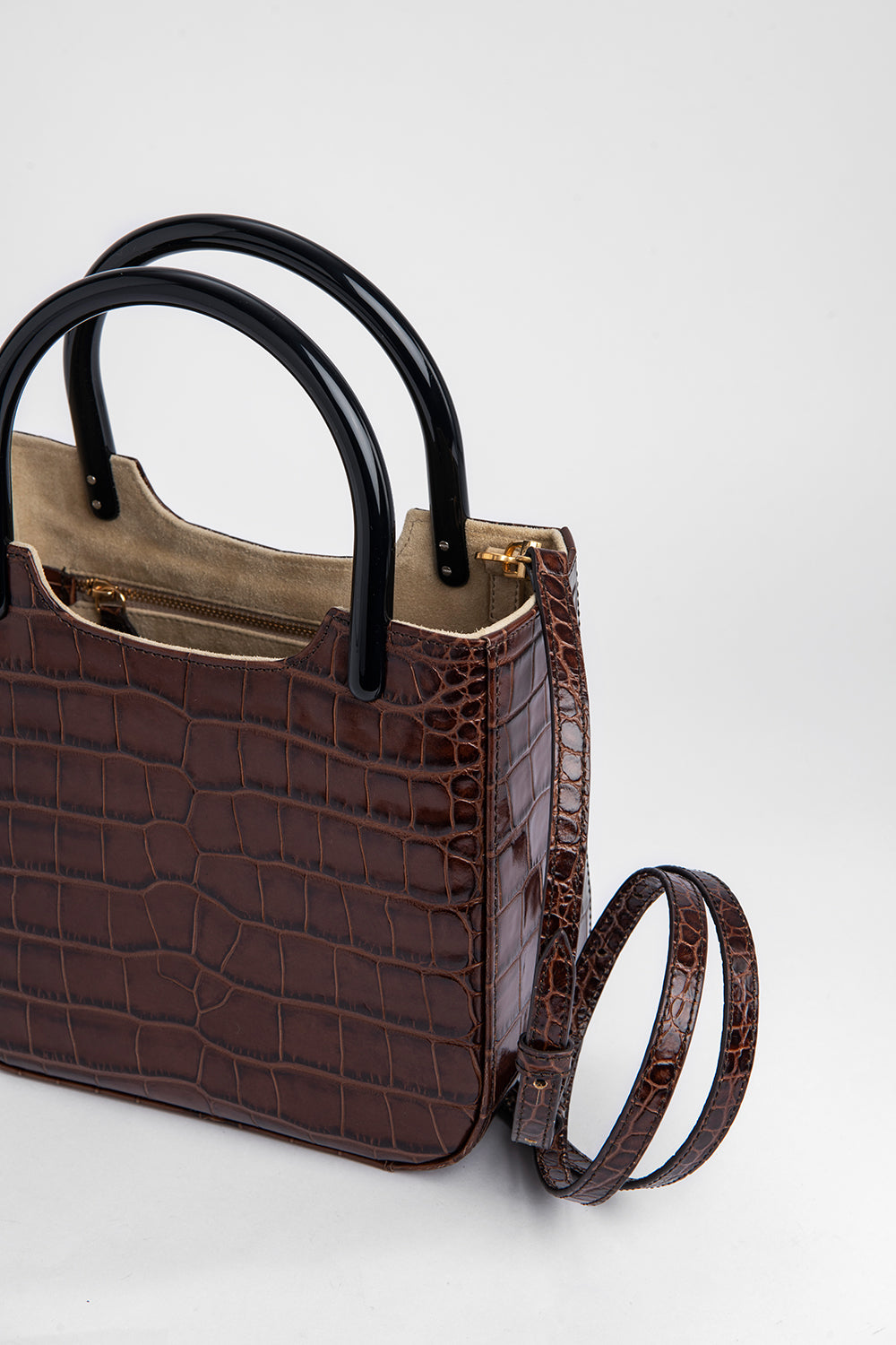 Eric Nutella Croco Embossed Leather