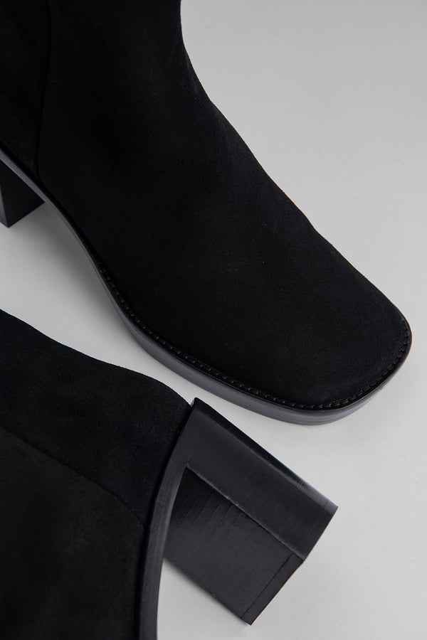 Ellen Black Suede Leather