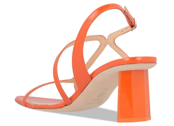 Brigette Orange Patent Leather