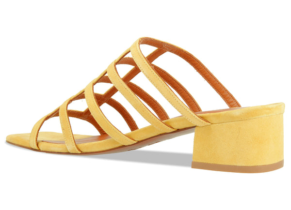 Grid Yellow Suede