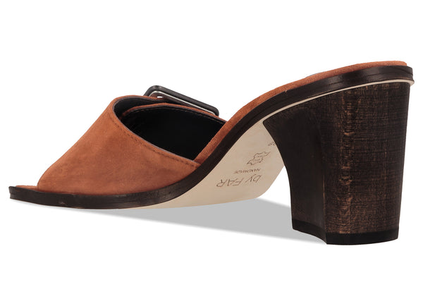 Silvia Brown Suede Leather