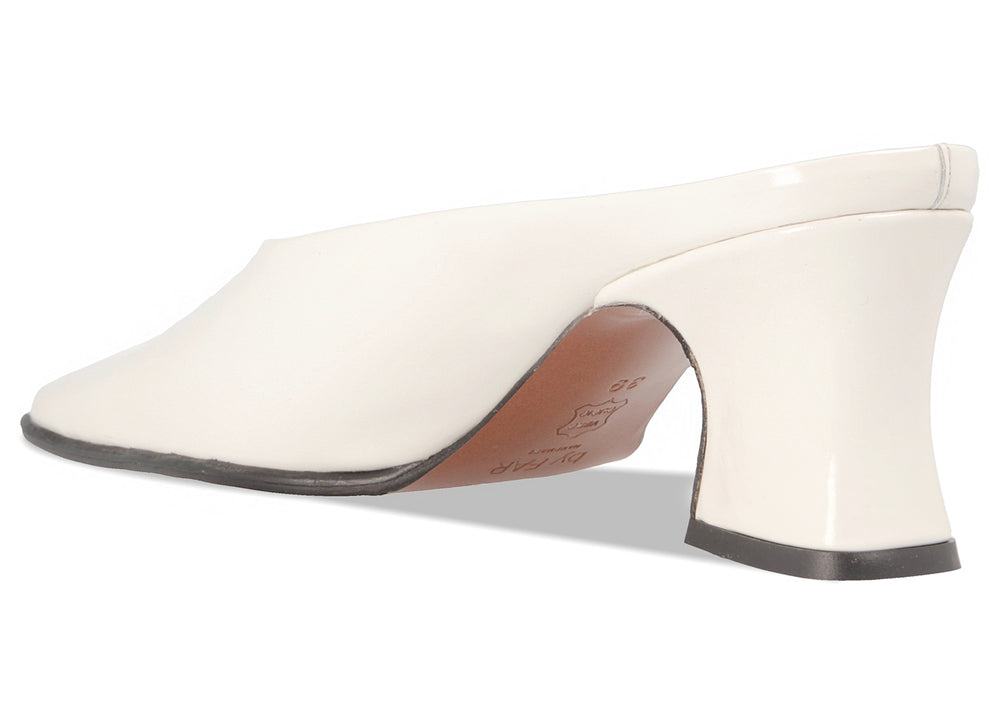 Kim White Semi-Patent Leather