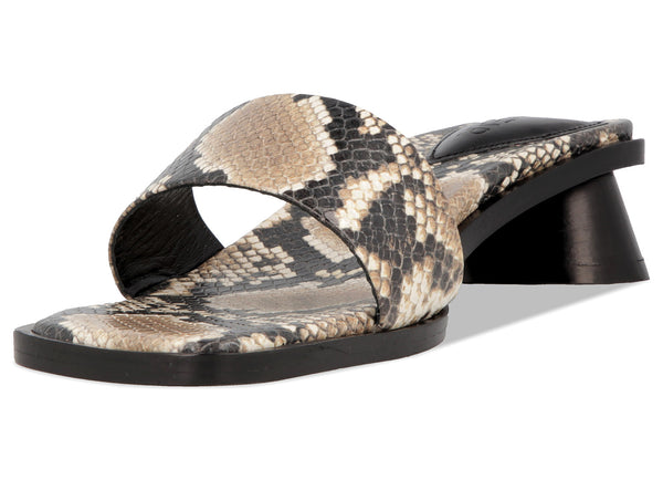 Sonia Snake Print Leather