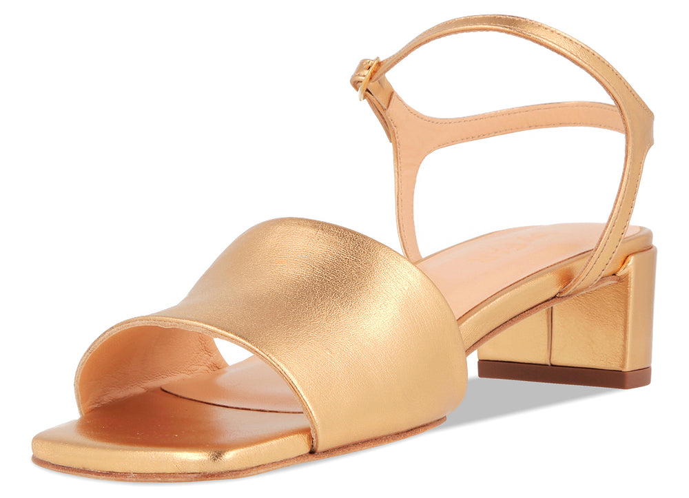 Ines Gold Leather