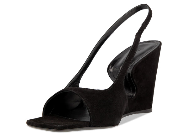 Bianca Black Suede Leather