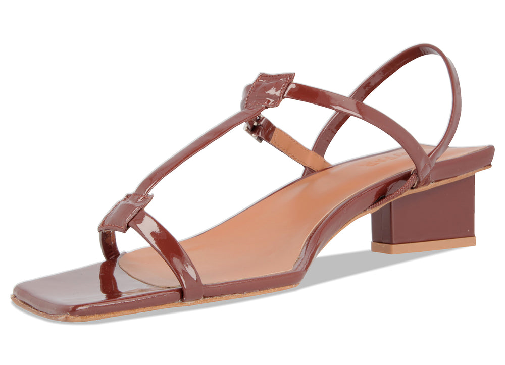 Krista Brown Patent Leather
