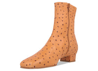 Este Boot Nude Ostrich Embossed Leather