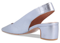 Danielle Light Blue Metallic Leather