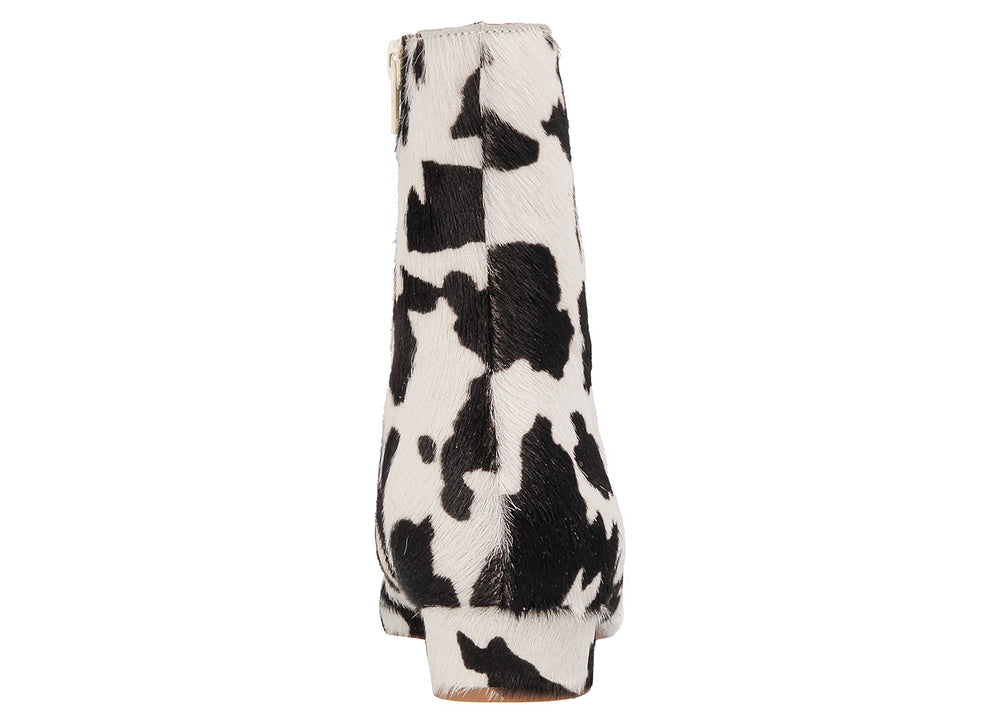 Este Boot Cow-Print Pony Hair Leather