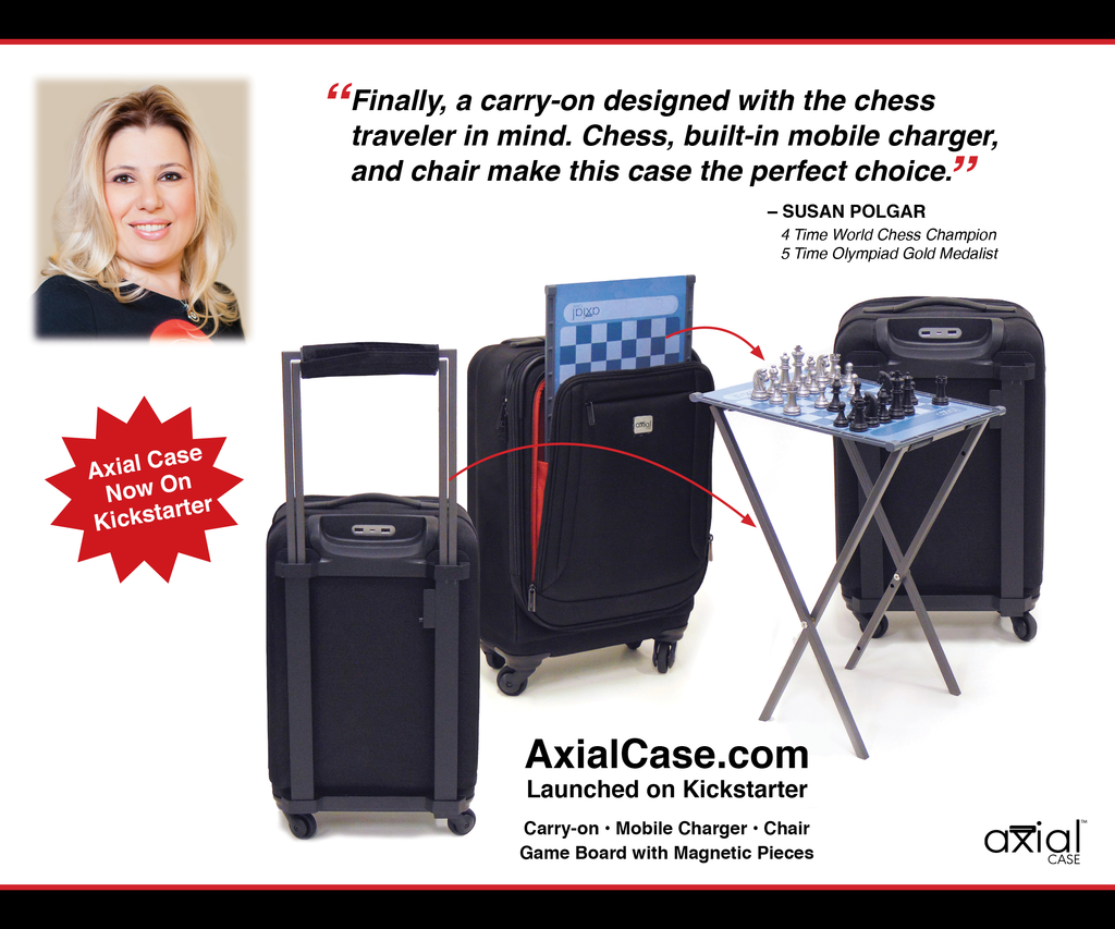 Susan Polgar, Global Chess Icon, endorses Axial Case