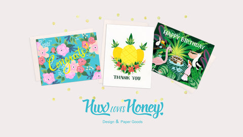 Hux Loves Honey Kickstarter Campaign - Greeting Cards